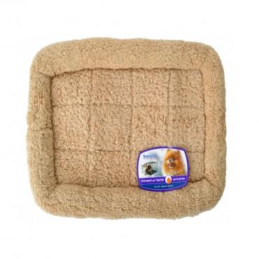 Precision Pet Snoozy Crate Bumper Bed - Tan - 23 L X 16 W