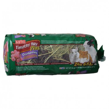 Kaytee Timothy Hay Plus Cranberries - Small Animals - 24 oz