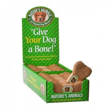 Natures Animals All Natural Dog Bone - Peanut Butter Flavor - 24 Pack
