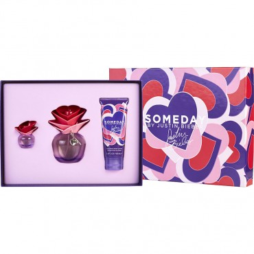 Someday By Justin Bieber - Eau De Parfum Spray 3.4 oz And Body Lotion 3.4 oz & Parfum 0.25 oz Mini