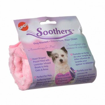 Spot Soothers Dog Blanket - 24 in.L x 16 in.W - Assorted Colors - 2 Pieces