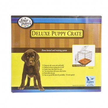 Four Paws K-9 Keeper Puppy Crate with Front and Top Door - 24 L x 18 W x 21 H
