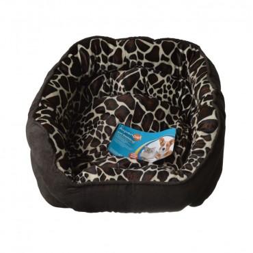 Aspen Pet Oval Pet Bed - Giraffe Print - 24 L x 19 W