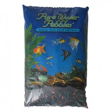 Pure Water Pebbles Aquarium Gravel - Black Beauty Pebble Mix - 25 lbs - 3.1-6.3 mm Grain