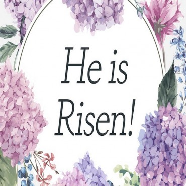 He is Risen - Floral