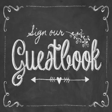Chalkboard Guestbook