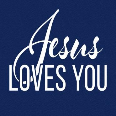 Christian - Jesus Loves You - 2 - Navy