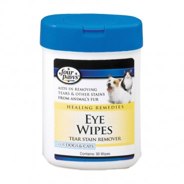 Four Paws Eye Wipes for Dogs and Cats - 25 Wipes - 2 Pieces