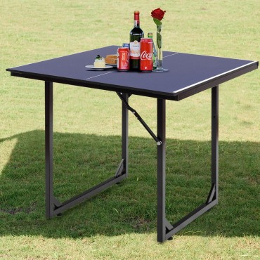 Multi - Use Foldable Midsize Removable Compact Ping - Pong Table
