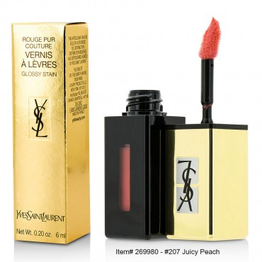 Yves Saint Laurent - Rouge Pur Couture Vernis A Levres Pop Water Glossy Stain 207 Juicy Peach 6ml/0.2oz
