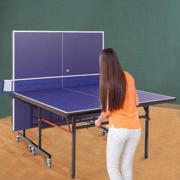 Removable Foldable Net Table Tennis Table With Locking Casters