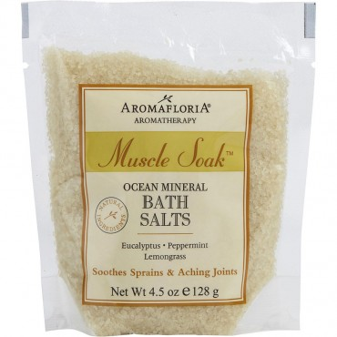 Muscle Soak - Ocean Mineral Bath Salt Packet Eucalyptus Peppermint And Lemongrass 4.5 oz