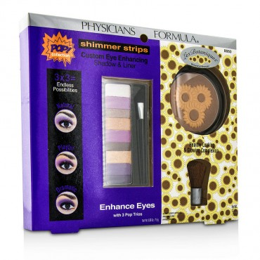 Physicians Formula - Makeup Set 8660 1x Shimmer Strips Eye Enhancing Shadow 1x Bontanical Bronzer 1x Applicator 3pcs