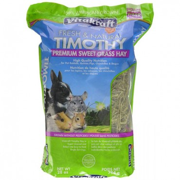 Vitakraft Fresh & Natural Timothy Premium Sweet Grass Hay - 28 oz