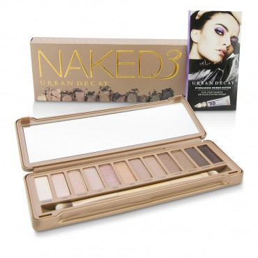 Urban Decay - Naked 3 Eyeshadow Palette 12x Eyeshadow 1x Doubled Ended Shadow Blending Brush