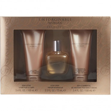 Unforgivable Woman - Parfum Spray 2.5 oz And Body Lotion 3.4 oz And Shower Gel 3.4 oz