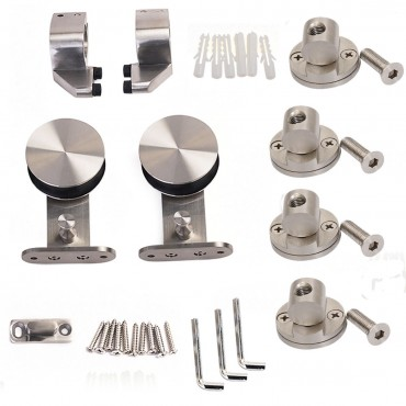 Modern Stainless Steel Wood Sliding Door Hardware Set