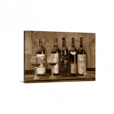 Cellar Reds Wall Art - Canvas - Gallery Wrap