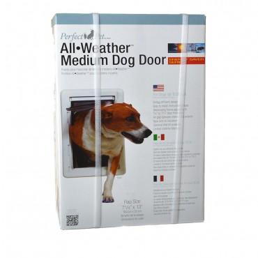 Perfect Pet All Weather Pet Door - Medium - 7.25W x 13H