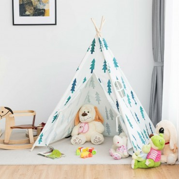 5 Ft. 5 Indian Play Tent Teepee Children Playhouse Sleeping Dome