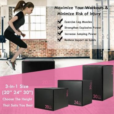 Fitness 3 In 1 Foam Jumping Box Plyometric Box For Jump Training