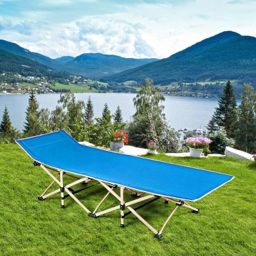 Foldable Camping Bed Portable Cot Bed With Carrying Bag Travel