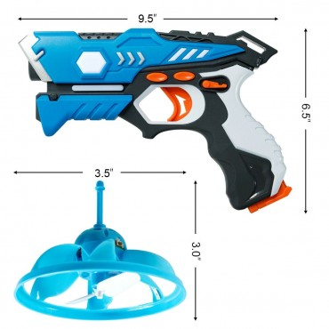 Infrared Laser Tag Guns With Flying Saucers Battle Blasters Game