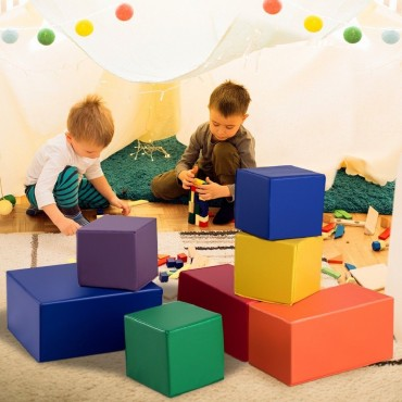 7 Pieces Set PU Foam Big Building Blocks For Kids