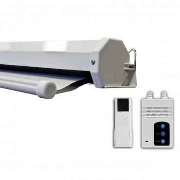 100 In. 80 x 60 Remote Control Motorize Electric Auto Projector