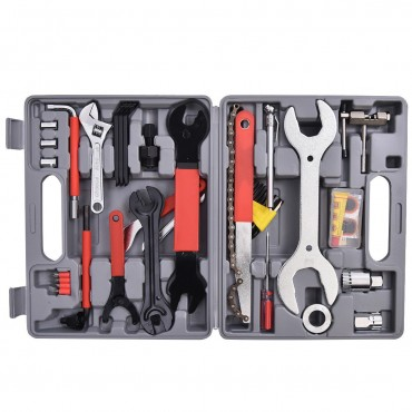 44 Pcs Multi-Function Bicycle Mechanic Tool Repair Kit Set
