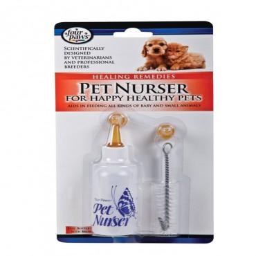 Four Paws Pet Nurser Bottle with Brush Kit - 2 oz Bottle - 4 Pieces