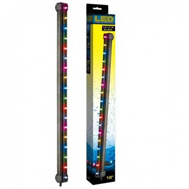Via Aqua LED Light & Air stone Slow Color Changing - 3.3 Watts - 18 in. Long - 18 Multi color LED's