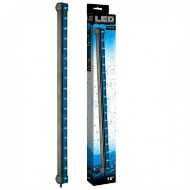 Via Aqua Blue LED Light and Air stone - 3.3 Watts - 18 in. Long