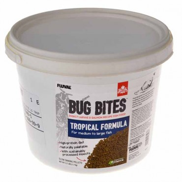 Flu val Bug Bites Tropical Formula Granules for Medium-Large Fish - 3.74 lbs