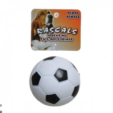 Rascals Vinyl Soccer Ball for Dogs - White - 3 in. Diameter - 4 Pieces