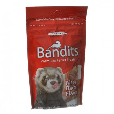Marshall Bandits Premium Ferret Treats - Bacon Flavor - 3 oz