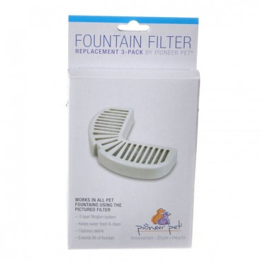 Pioneer Replacement Filters for Stainless Steel and Ceramic Fountains - 3 Pack - 2 Pieces