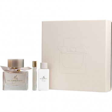 My Burberry Blush - Eau De Parfum Spray 3 oz And Body Lotion 2.5 oz And Eau De Parfum Spray 0.25 oz Mini