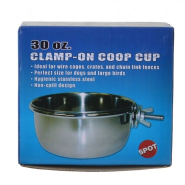 Spot Stainless Steel Coop Cup with Bolt Clamp - 30 oz