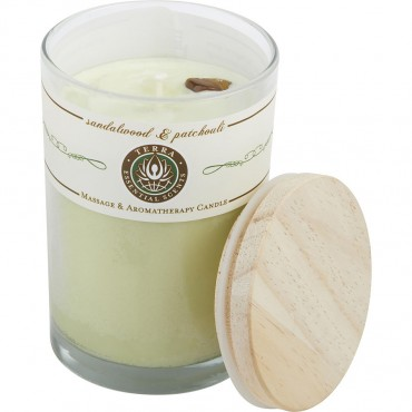 Sandalwood And Patchouli - Massage And Aromatherapy Soy Candle 12 oz Tumbler