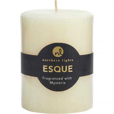 Mysteria Esque - One Pillar Essential Blends Candle 3x4 Inch Burns 80 Hours