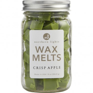 Crisp Apple Scented - Simmering Fragrance Chips  8 oz Jar Containing 100 Melts