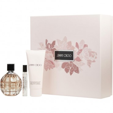 Jimmy Choo - Eau De Parfum Spray 3.3 oz And Body Lotion 3.3 oz And Eau De Parfum Spray 0.25 oz Mini