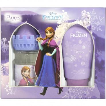 Frozen Disney Anna - Eau De Toilette Spray 1.7 oz And Shower Gel 2.5 oz Castle Packaging