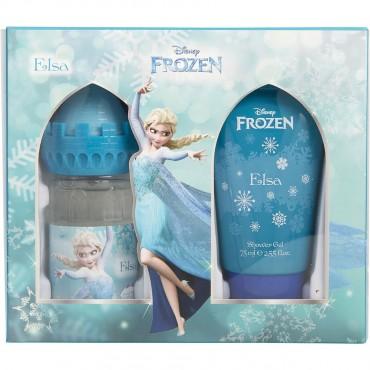 Frozen Disney Elsa - Eau De Toilette Spray 1.7 oz And Shower Gel 2.5 oz Castle Packaging