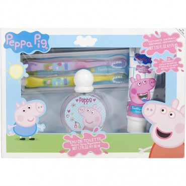 Peppa Pig - Eau De Toilette Spray 1.7 oz And Toothpaste 2.5 oz And Two Toothbrushes
