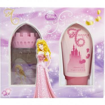 Sleeping Beauty Aurora - Eau De Toilette Spray 1.7 oz Castle Packaging Shower Gel 2.5 oz