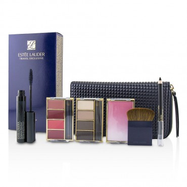 Estee Lauder - Travel In Color Makeup Palette 4x Eyeshadow 4x Lipcolor 1x Blush 1x Mascara 1x Eye Pencil 1x Bag
