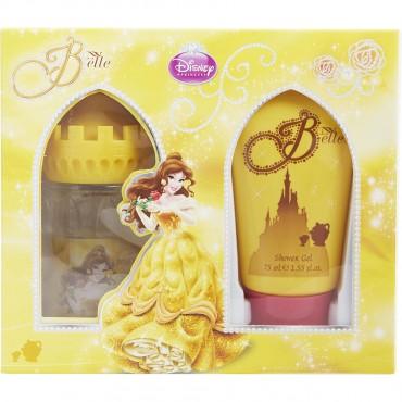 Beauty And The Beast - Princess Belle Eau De Toilette Spray 1.7 oz And Shower Gel 2.5 oz Castle Packaging