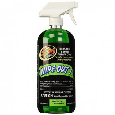 Zoo Med Wipe Out 1 - Small Animal & Reptile Terrarium Cleaner - 32 oz